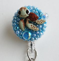 Finding Nemo Squirt ID Badge Reel - RN ID Badge Holder - Zipperedheart by ZipperedHeart on Etsy