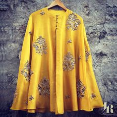 Looking for latest stylish lehenga blouse designs for bride? Then check out this cool label which offers ultra trendy designs. Indian Designer Outfits, Indian Outfits, Designer Dresses, Choli Dress, Lehenga Blouse, Kurta Designs, Blouse Designs, Capes, Cape Designs