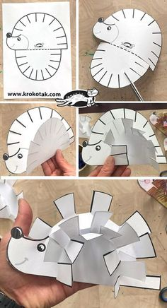Animal Crafts For Kids, Diy Crafts For Kids, Easy Crafts, Arts And Crafts, Hedgehog Craft, Art Drawings For Kids, Autumn Crafts, Teaching Art, Preschool Crafts