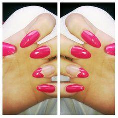 stiletto, almond, pointy nails + nail art design