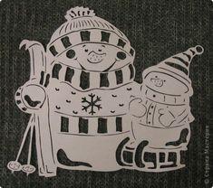 Картина панно рисунок Новый год Вырезание Рябинкин и другие Бумага фото 5