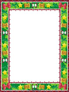... in this free, printable, Christmas border. Free to download and print