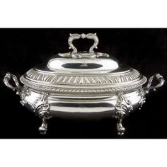 Irish Sterling Silver Soup Tureen with Cover Sold $7,000