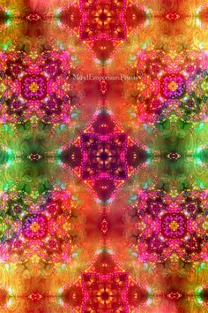 Prana Multi 5 Digital Art Print Psychedelic por MindEmporiumPrints