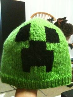 Two of my boys love Mine Craft.  I'll have to see about making them each one of these cool hats.