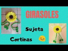 GIRASOLES TEJIDOS!!!!! Sujetador de cortinas - YouTube Frame, Decor, Youtube, Farmhouse Rugs, Templates, Fasteners, Bra Pattern, Picture Frame, Decoration