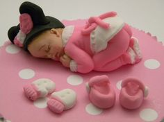 Fondant Baby  Mini Mouse Pijamas outfit by anafeke on Etsy, $15.00
