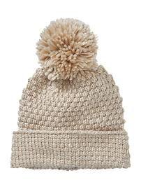 Moss stitch hat