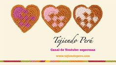 Corazón entrelazado tejido a crochet