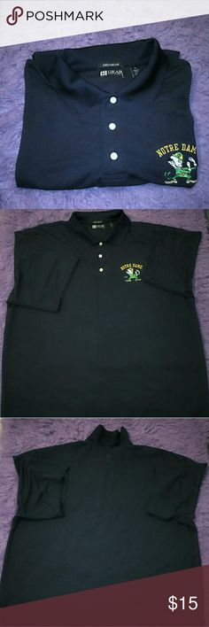 NOTRE DAME POLO SHIRT DRY GEAR XL In good condition, no holes nor stains nor rips DRY GEAR polo shirt with Notre Dame logo. Please check my pictures posted for details and if you have any questions, please feel free to ask and make offer. DRY GEAR Shirts Polos