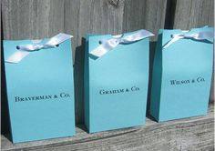 Cute Tiffany's inspired favor bags
