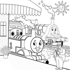 Thomas The Train Coloring Pages Free - Cartoon Coloring pages of ...
