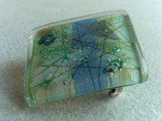 Broche vidrio fundido  - broche artístico de BGLASSbcn por DaWanda.com