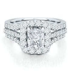 wow ! Helzberg Diamond Symphonies® Mosaica 2 ct. tw. Diamond Engagement Ring in 14K Gold available at #HelzbergDiamonds
