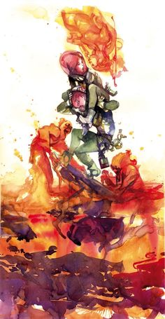Black Science 01 painted variant cover Image Rick Remender - Greg Tocchini Comic Art