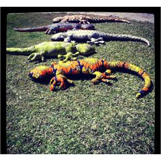 Gecko made of African chitenge