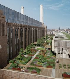 andy sturgeon plants garden of elements at battersea power station (london)