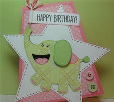 Elephand Birthday Card - Birthday Bash Cricut Cartridge