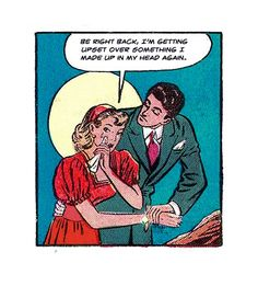 "Comic Girls Say ."" yeah, I totally planned to mean nothing to you "". Vintage Pop Art, Vintage Cartoon, Vintage Comics, Bd Comics, Comics Girls, Pop Art Comics, Comic Art, Comic Books, Haha"