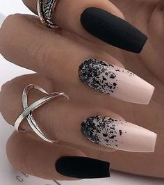 Get Started With Innovative Nail Art Designs Inspiring nail art wi. - Get Started With Innovative Nail Art Designs Inspiring nail art with pink and black colors - Cute Acrylic Nails, Acrylic Nail Designs, Cute Nails, Pretty Nails, Nail Art Designs, Fall Manicure, Nagellack Trends, Ballerina Nails, Ballerina Art