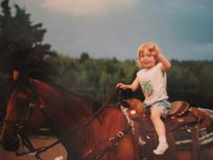A Little Cowgirl & Her Big Horse