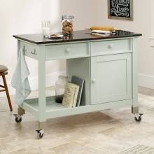 Sauder Cottage Collection Mobile Kitchen Island - Rainwater Finish - 414385