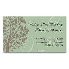 Sage Green and Soft Brown Stylized Eco Tree Business Card. Make your own business card with this great design. All you need is to add your info to this template. Click the image to try it out!