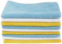 24 Pack Microfiber Cleaning Cloth Kitchen Towels Absorbent Towel Dish Cloth for sale online Bathroom Cleaning Hacks, Cleaning Tips, Cleaning Products, Amazon Products, Kitchen Cleaning, Cleaning Checklist, Cleaning Recipes, Cleaning Solutions, Blue Nails