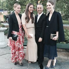 """With Francisco Costa, Victoria and Vanessa Traina celebrating the opening of """"Drifting In Daylight : Art In Central Park"""" with Calvin Klein Collection - LHD Laura Lee, Danielle Steel, Calvin Klein Collection, Long Maxi Skirts, Central Park, Costa Victoria, Sequin Skirt, Black And White, Celebrities"""