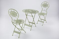 Buy Garden Bistro Patio Set With Foldable Table & Two Chairs In Green, Oval from Furniture Checklist! Browse our beautiful antique, french shabby chic collection of garden furniture sets, bistro patio sets, coffee shop outdoor furniture sets.