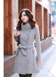 ~grey coat~, nice collar
