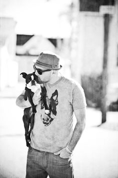 Nothing say hot like a man kissing a Boston #bostonterrier