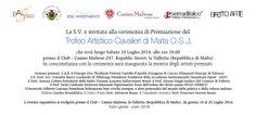 Trofeo Artistico Cavalieri di Malta #sabrinabertolelli