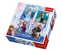 Trefl 4in1 Puzzle 35+48+54+70 Teile Frozen - Die Eiskönigin (34210)  httü:/nextpuzzle.de