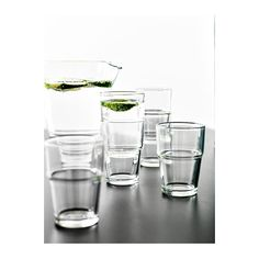 REKO Glass IKEA Can be stacked inside one another to save space in your cabinets when not in use.