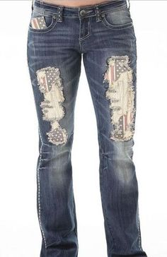 Cowgirl Tuff American Pride Jeans #cowgirlboots