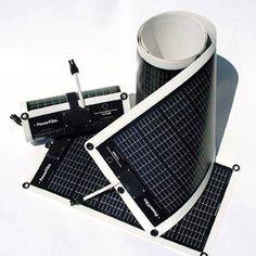 Bendable solar panels.
