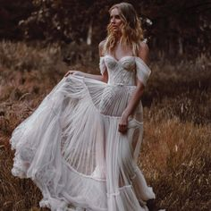 #Berta #Musebyberta @tali__photography #vakkowedding #bridal Boho Wedding Dress Bohemian, Fairy Wedding Dress, Tulle Wedding, Boho Bride, Dream Wedding Dresses, Bridal Dresses, Wedding Bride, Marie, Dress Ideas