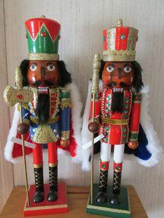 African American Christmas  Nutcrackers  TWO Royal King Robe