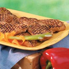 """Grilled Sesame Chicken Recipe -Chicken gets a lovely treatment from a soy marinade and basting sauce in this recipe from Catherine Allan of Twin Falls, Idaho. """"The flavor you get from grilling really says summer,"""" she notes. Enjoy some chicken for dinner and use the extra in the two recipes that follow."""