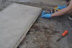 DIY concrete table top mold