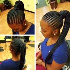 Gorgeous braided pony by @narahairbraiding  Read the article here - http://blackhairinformation.com/hairstyle-gallery/gorgeous-braided-pony-narahairbraiding/