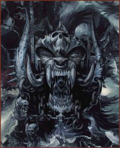 Official Motörhead artwork by Joe Petagno Heavy Metal Bands, Heavy Metal Art, Skull Pictures, Dark Pictures, Beautiful Pictures, Arte Pink Floyd, Rabe Tattoo, Totenkopf Tattoos, Metal Artwork