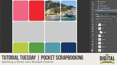 Tutorial Tuesday | Splitting a Photo into Multiple Pockets
