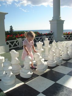 Spending the afternoon playing chess at the Grand Hotel, Mackinac Island, MI #puremichigan