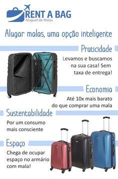 Aluguel de Mala - uma escolha inteligente - Seguindo Viagem Traveling, Packing, Places, Carry On Bag, Travel Checklist, Travel Themes, How To Plan, Travel Tips, Viajes