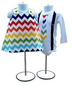 Brother Sister Boy Girl Twin  Matching Set  Rainbow by Luke and Lulu on Amazon, $49.00