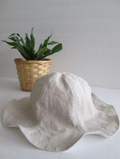 4 Colors Linen Baby Sun Hat Children's Summer Hat by NikosNapTime, $22.00