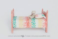 Want to see a vintage style makeover of Ikea's Duktig Doll's Bed? Then this Ikea Hack is for you....click through for a full tutorial.