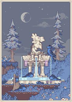 Piskel Art, Pix Art, Pixel Art Background, 2d Game Art, 8 Bit Art, Anime Pixel Art, Pixel Art Games, Environment Concept Art, Art Tutorials